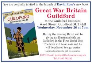 David Rose book launch Nov 2014