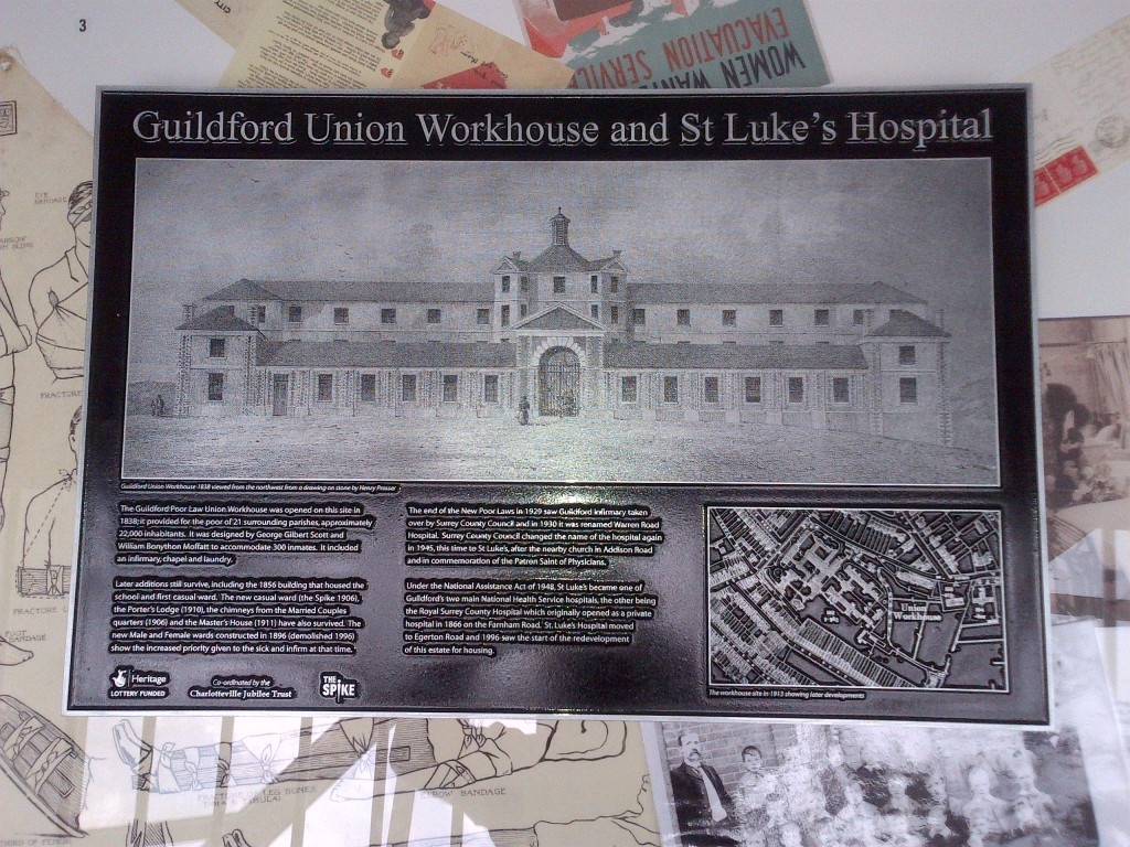 A lasting reminder of the history of the Warren Road site and the Guildford Union Workhouse